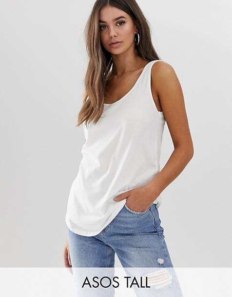 ASOS DESIGN Tall ultimate tank in white