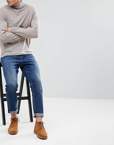 ASOS DESIGN tapered jeans in dark wash