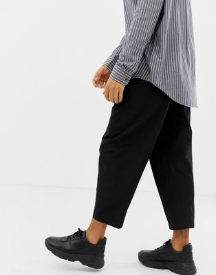 ASOS DESIGN tapered smart pant in techy fabric