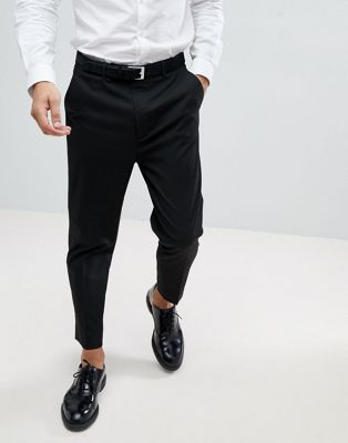 ASOS DESIGN tapered smart pants in black