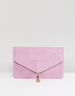 ASOS DESIGN tassel clutch bag