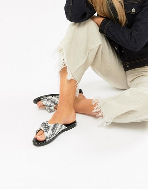 ASOS DESIGN - tekstil mules med knude