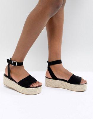Image 1 of ASOS DESIGN Thear Espadrille Flatform Sandals
