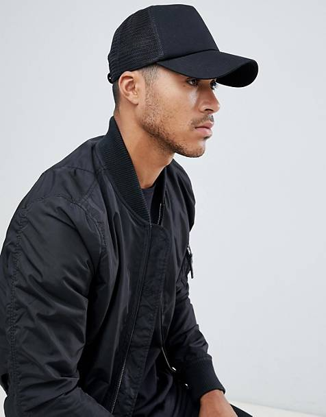 ASOS DESIGN trucker cap in black