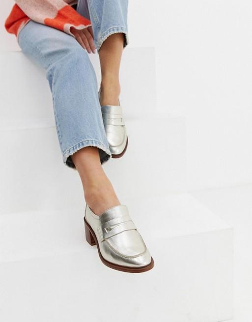 Afbeelding 1 van ASOS DESIGN - Tulip - Premium loafers van leer