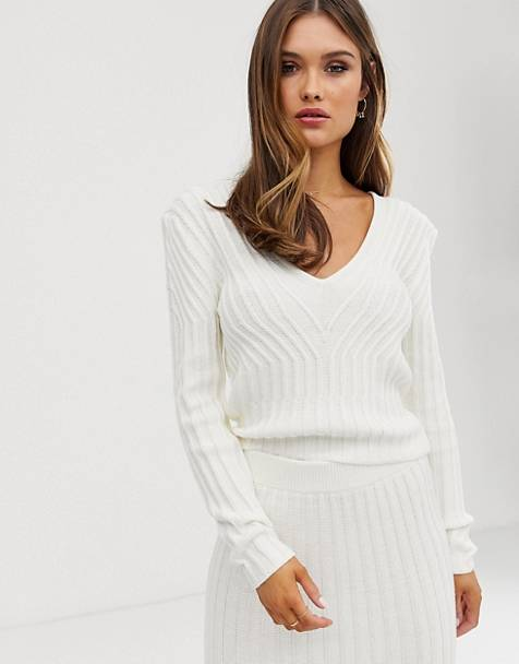ASOS DESIGN two-piece sweater in moving rib