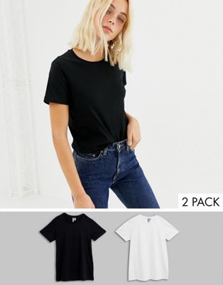 ASOS DESIGN - ultimate - Lot de 2 t-shirts ras de cou - ÉCONOMIE