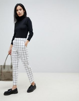 ASOS DESIGN ultimate slim cigarette trousers in mono check