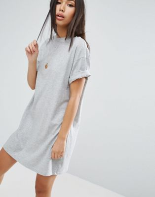 Image 1 of ASOS DESIGN ultimate t-shirt dress with rolled sleeves