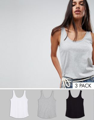 ASOS DESIGN ultimate tank 3 pack save 20%