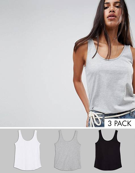ASOS DESIGN ultimate tank 3 pack SAVE