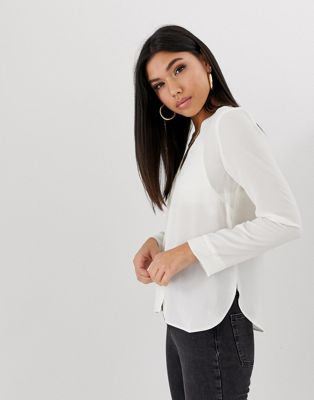 ASOS DESIGN v neck blouse