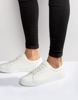ASOS DESIGN Vegan Trainers In White
