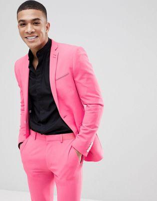 ASOS DESIGN - Veste de costume ultra slim - Limonade rose
