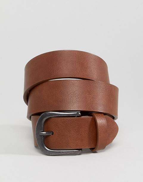 ASOS DESIGN vintage tan jeans belt