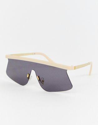 ASOS DESIGN – Visor-Sonnenbrille mit flachen Gläsern
