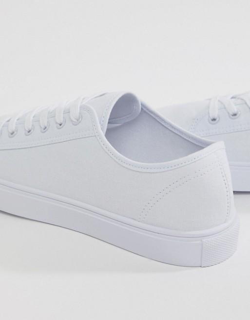 weiß DESIGN Sneaker Canvas Weiße ASOS wAqRIXCdx