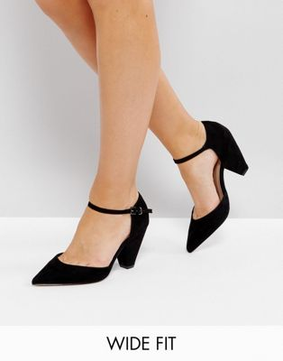 ASOS DESIGN Wide Fit Speaker pointed heels