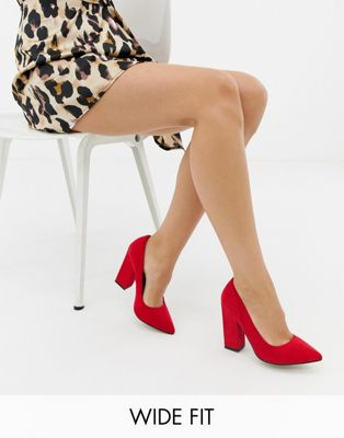 ASOS DESIGN Wide Fit Washington block heels