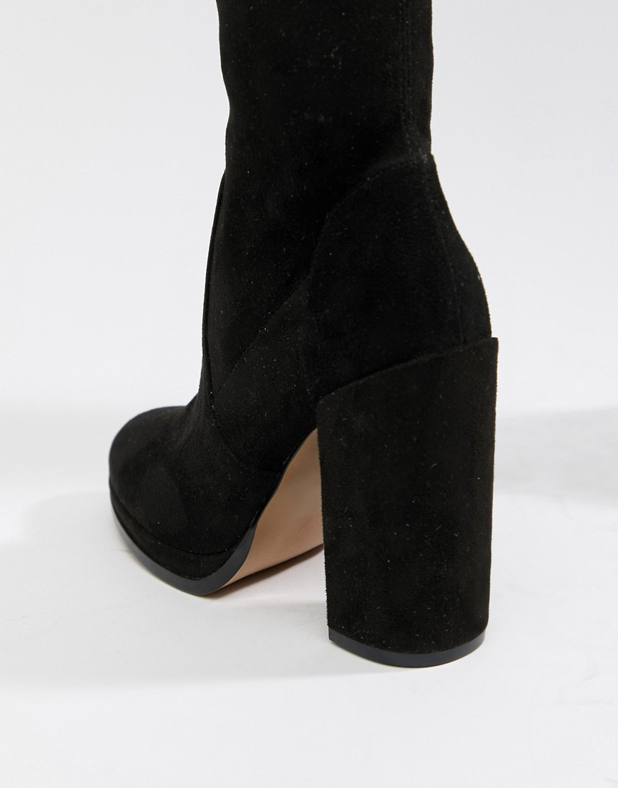 Asos Design Wide Leg Kassidy Heeled Over The Knee Boots by Asos Design