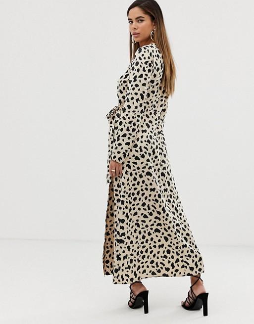 630056b19efc81 ASOS DESIGN wrap maxi dress in leopard print | ASOS