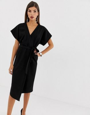 ASOS DESIGN wrap midi dress