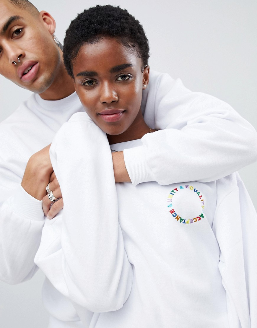 Asos Design X Glaad& Sweatshirt With Back Print by Asos Design X Glaad&