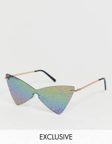 ASOS DESIGN x glaad& unisex fashion glasses with leopard overlay