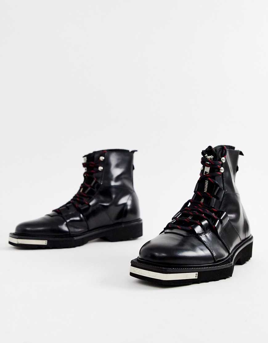 Asos Design X La Quan Smith Leather Lace Up Boot by Asos Design