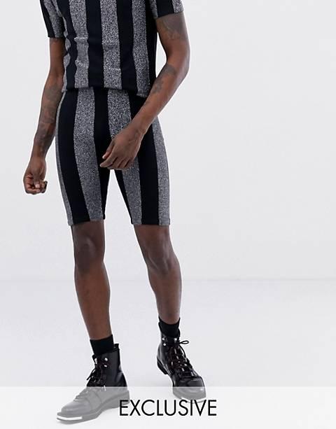 ASOS DESIGN x LaQuan Smith - Short à rayures scintillantes
