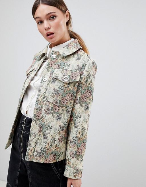 ASOS DESIGN – Żakardowa kurtka z motywem tapety