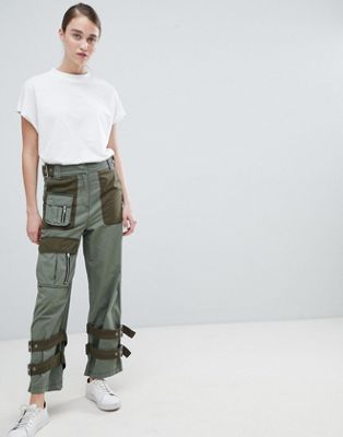 ASOS DESIGN zip detail combat trousers