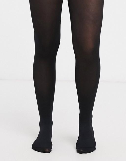 ASOS Design - Zwarte 80 denier panty van gerecycled nylon