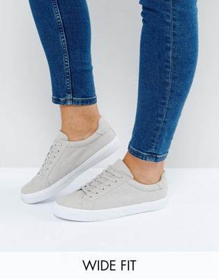 ASOS DEVLIN Wide Fit Lace Up Trainers