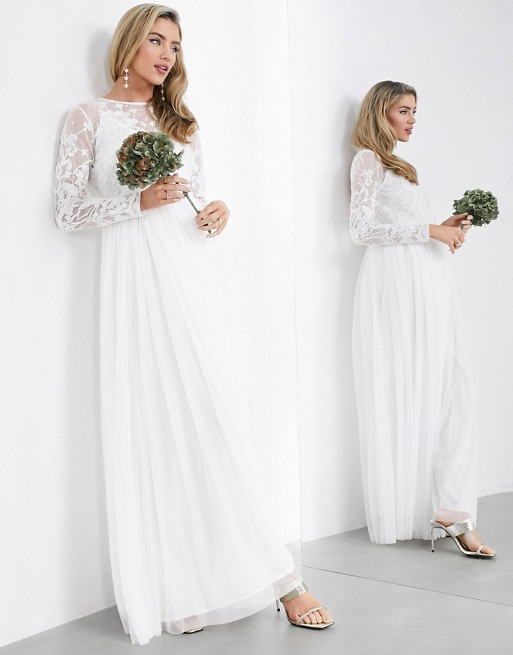 ASOS EDITION Ayla embroidered bodice maxi wedding dress