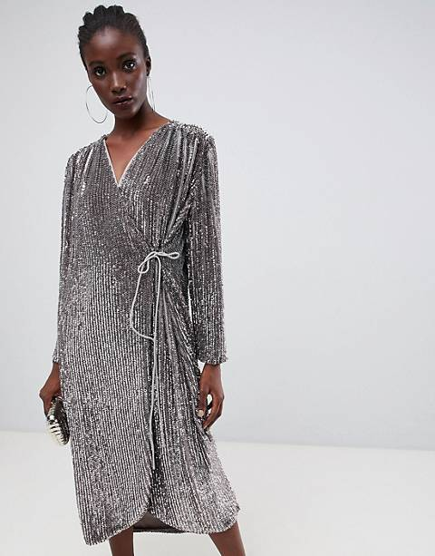 ASOS EDITION oversized sequin wrap dress