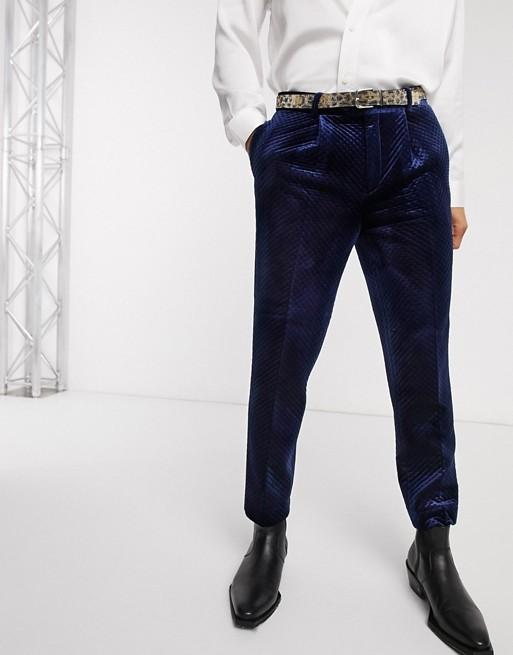 Edition - Pantalon Habillé En Velours Matelassé