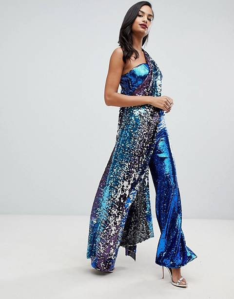 ASOS EDITION patched ombre sequin pants