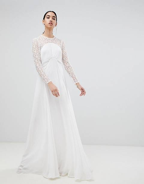 ASOS EDITION wedding dress with delicate lace