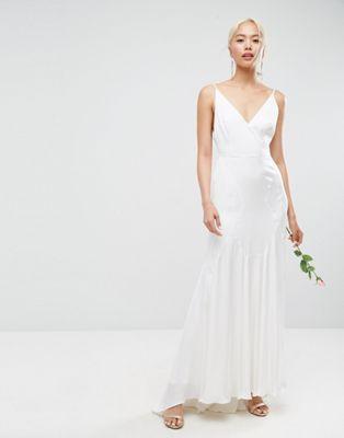ASOS EDITION Wedding - Robe longue caraco à coutures fantaisie