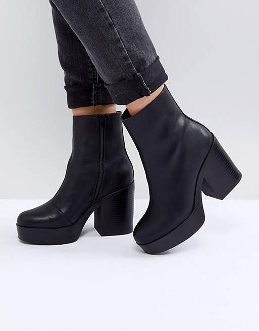 ASOS EMBER Platform Ankle Boots