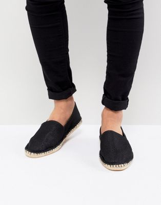 ASOS Espadrilles In Black Mesh
