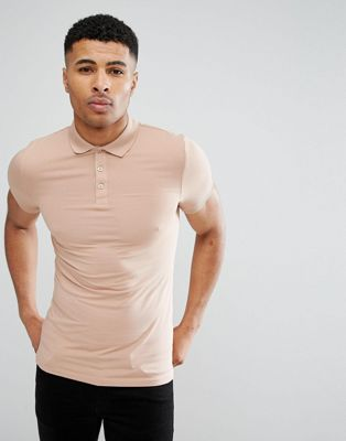 Image 1 of ASOS Extreme Muscle Polo In Jersey