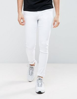 ASOS Extreme Super Skinny Jeans In White