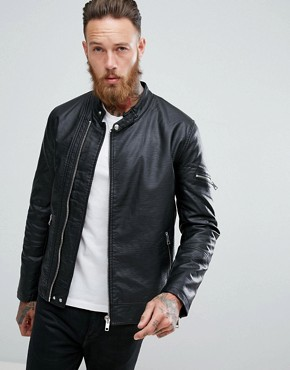Men's Leather Jackets | Suede Jackets For Men | ASOS