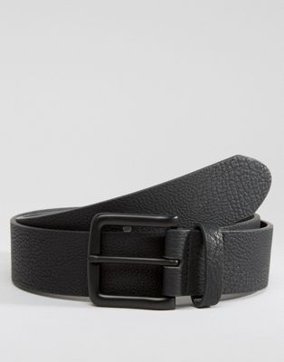 ASOS Faux Leather Wide Belt With Black Coated Buckle