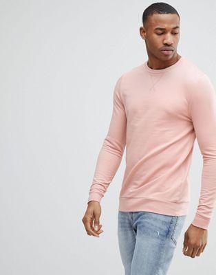 ASOS - Felpa attillata rosa