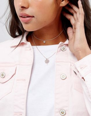 ASOS Fine Filigree Multirow Necklace