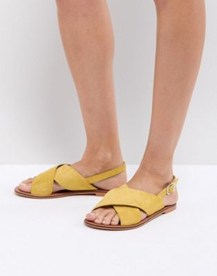 ASOS FLICKER Leather Flat Sandals