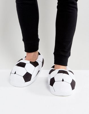 ASOS Football Slippers In Black and White